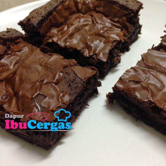 Resepi Brownies Kedut Sedap Dan Mudah Dapur Ibucergas Com Makanan Memanggang Kue Resep Biskuit