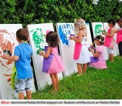 resultado de imagen para ideas para festejar cumpleaos infantiles en casa aire libre