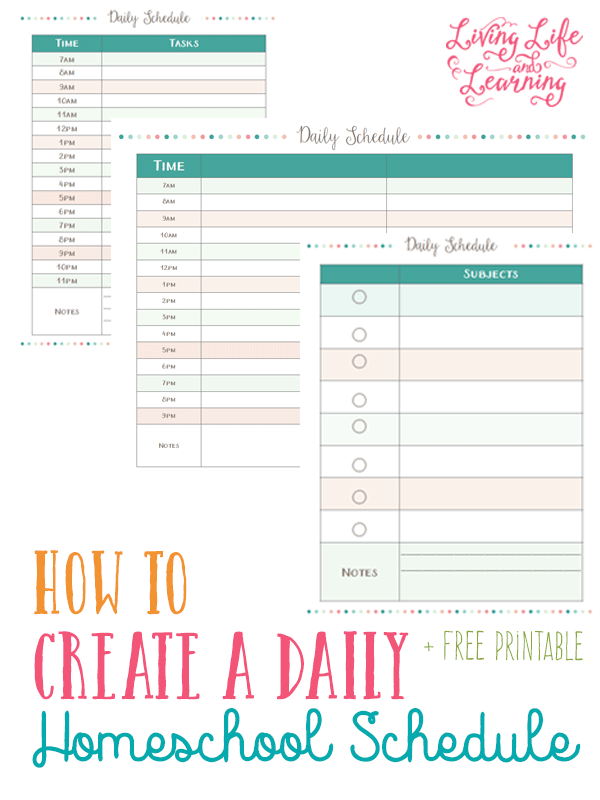 How to Create a Daily Homeschool Schedule | Kind