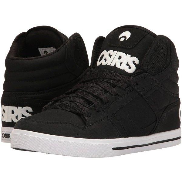 Osiris Clone (Black/Black/Oxford) Men's Skate Shoes ($50) ❤