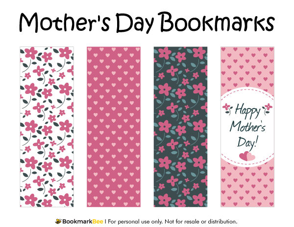 Printable Mother S Day Bookmarks Mother S Day Printables Free Printable Bookmarks Mothers Day Book