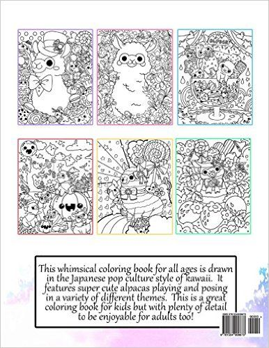 Amazon Com Kawaii Alpacas A Super Cute Coloring Book Kawaii Manga And Anime Coloring Books For Adults Teens And Kawaii Alpaca Coloring Books Cute Doodles
