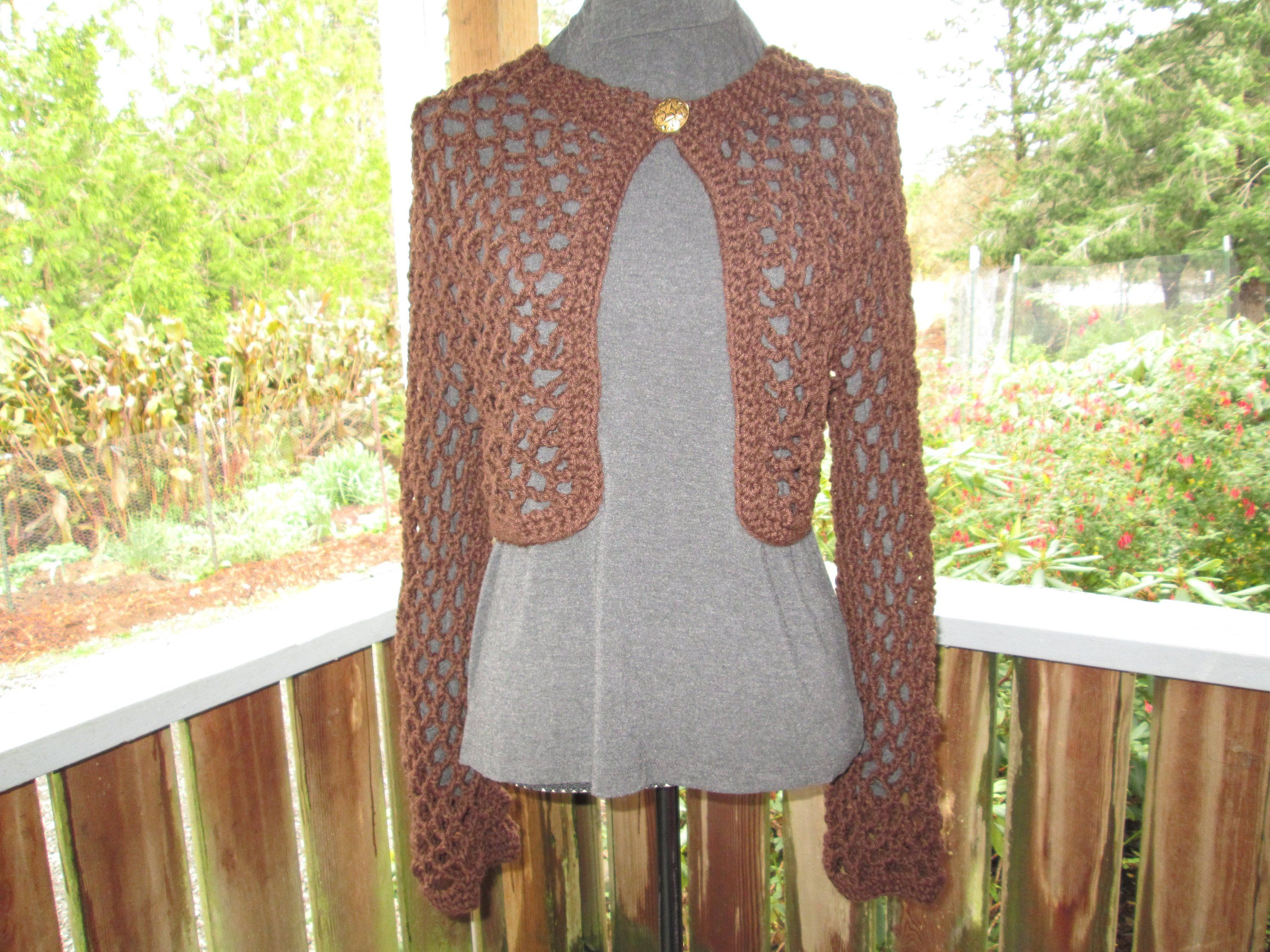 6408fe0d8871 Misses Dark Brown Sweater by SuzannesStitches