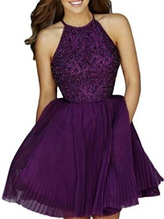 Short Dark Purple Dresses