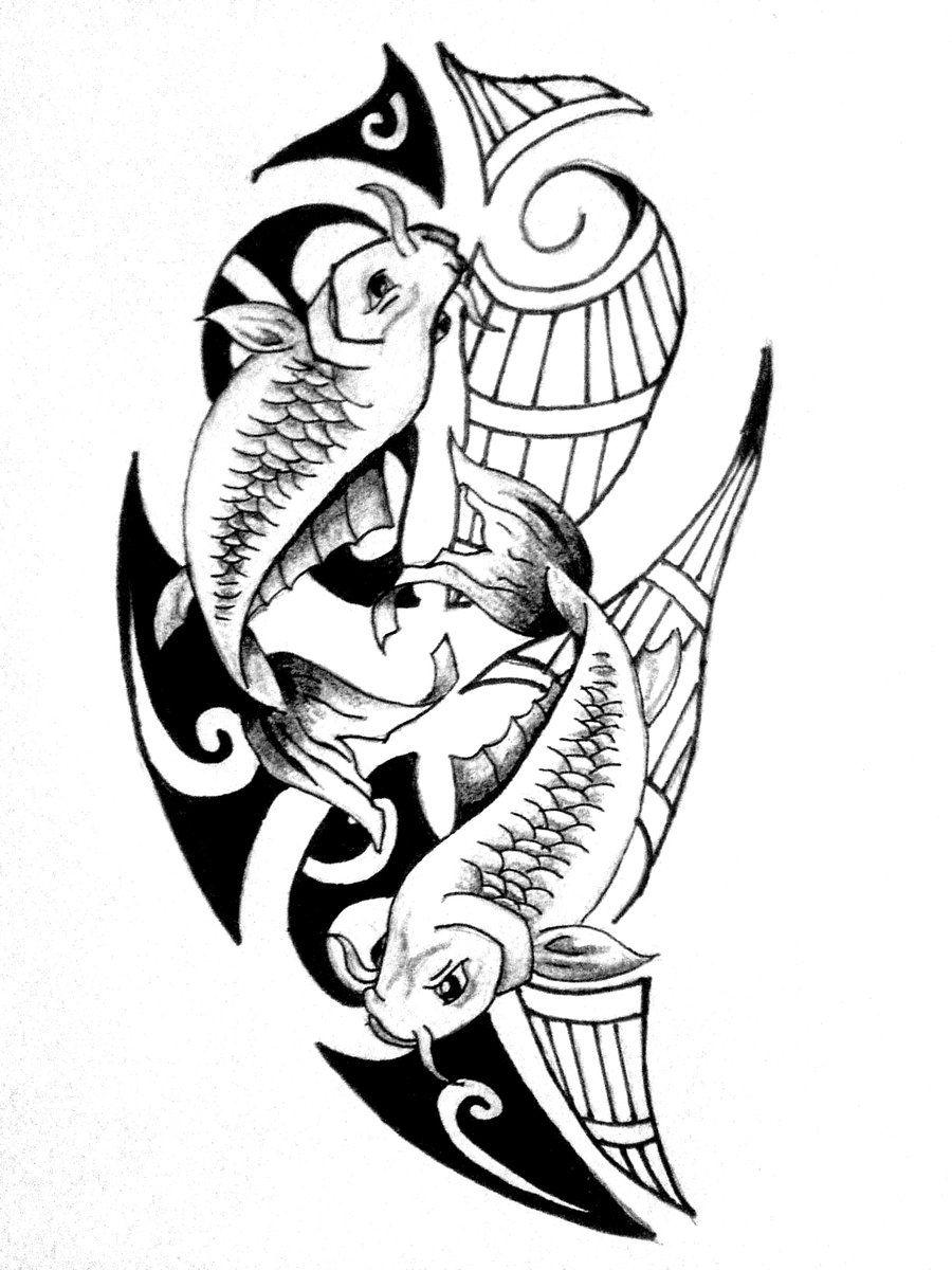 pisces fish tattoo Maori tattoo, Tattoos, Pisces tattoo