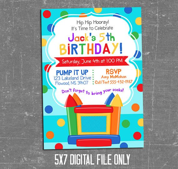 Pin On Bouncy House Birthday