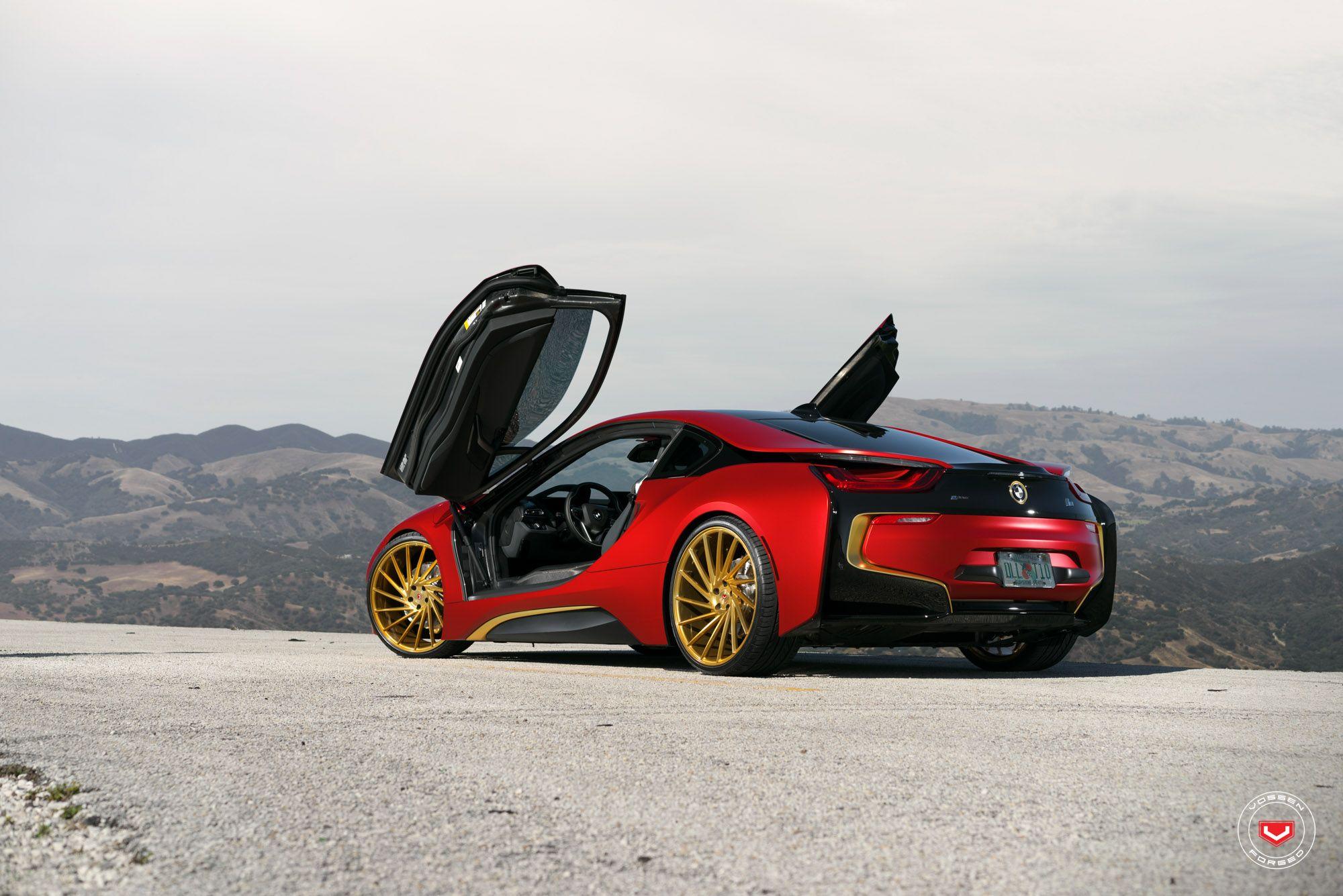 Bmw I8 Coupe Edrive Red Devil Burn Fire Vossen Wheels