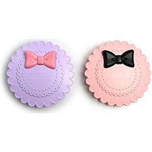 New Dolly Ribbon Three Tier False Eyelash Travel Storage Carry Case Box (Purple or Pink)