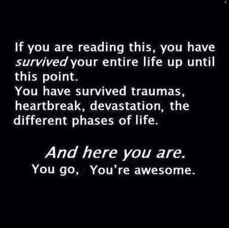 You go, you're awesome!