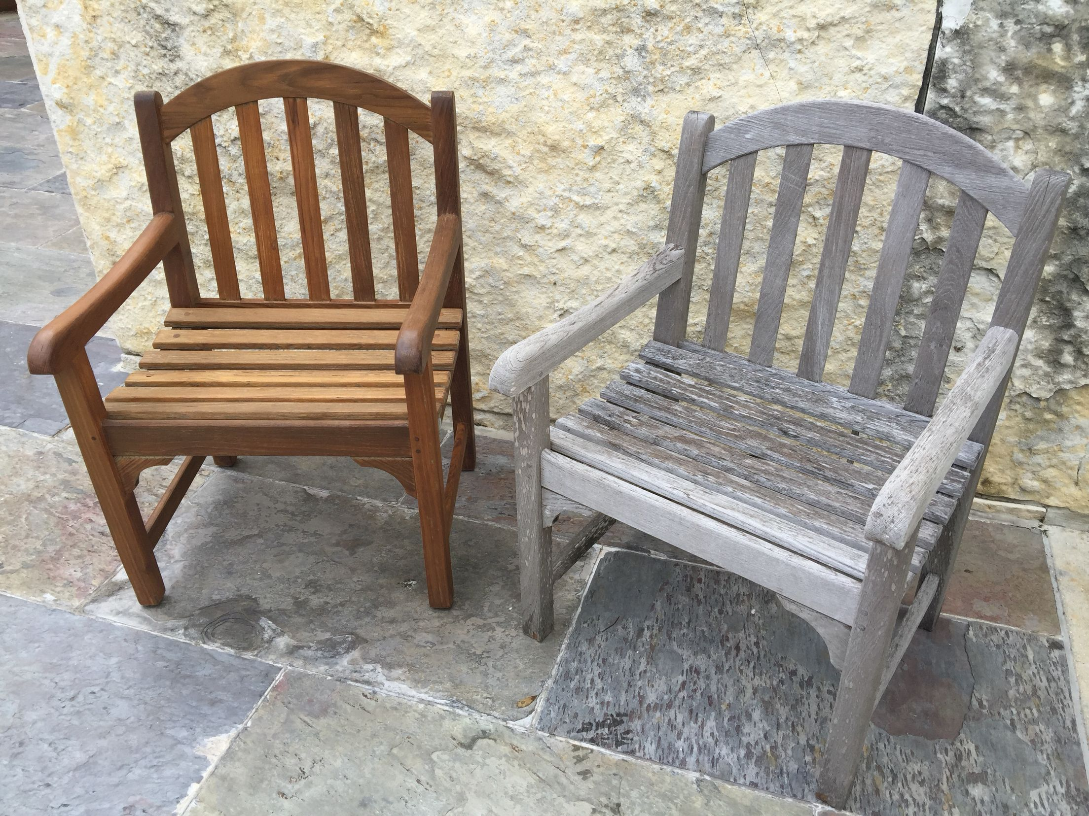 before and after teak patio furniture furniture refinishing