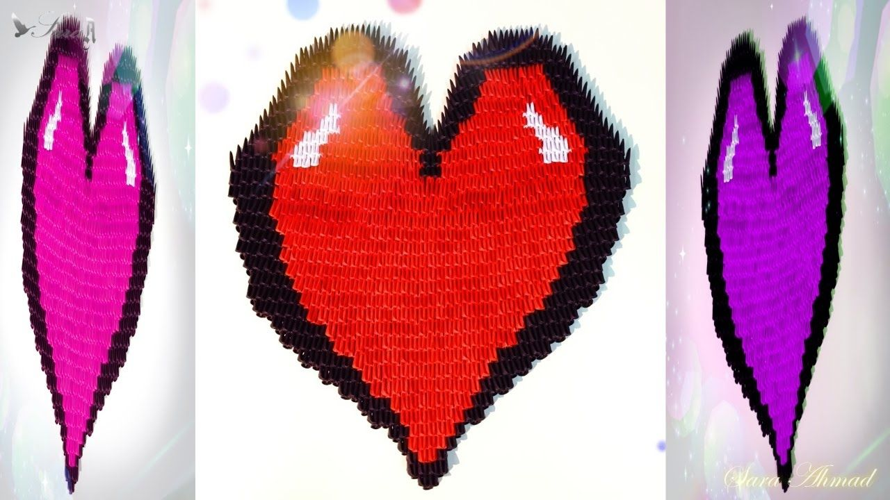 How to make 3d origami heart 3 3d origami pinterest 3d how to make 3d origami heart 3 jeuxipadfo Gallery