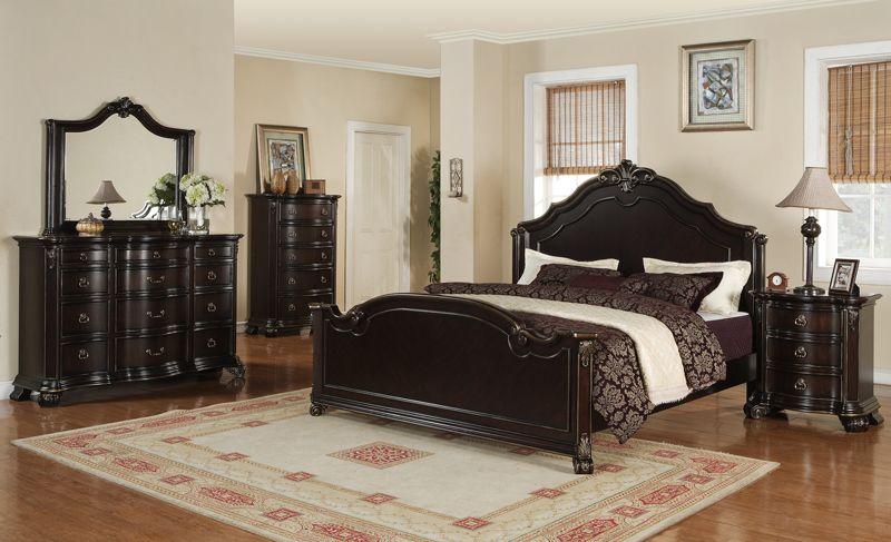 Amazing Harrison Bedroom Set (Espresso Finish)   [HS600QB] : Decor South