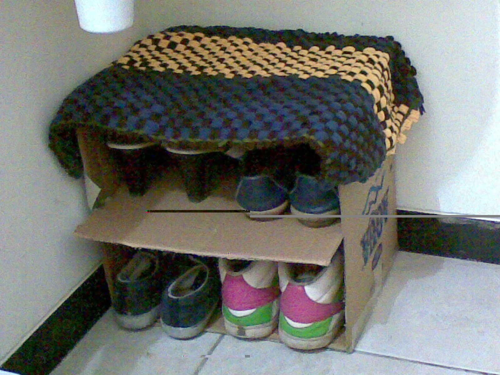 Diy shoe rack cardboard diy shoe rack diy shoes shoe rack