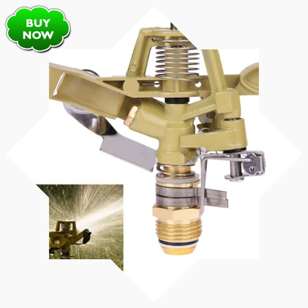 1 2 Inch Copper Rotate Water Sprinkler Spray Nozzle Connector Rocker Arm Garden Irrigation Watering System Garden T Water Sprinkler Sprinkler Garden Irrigation