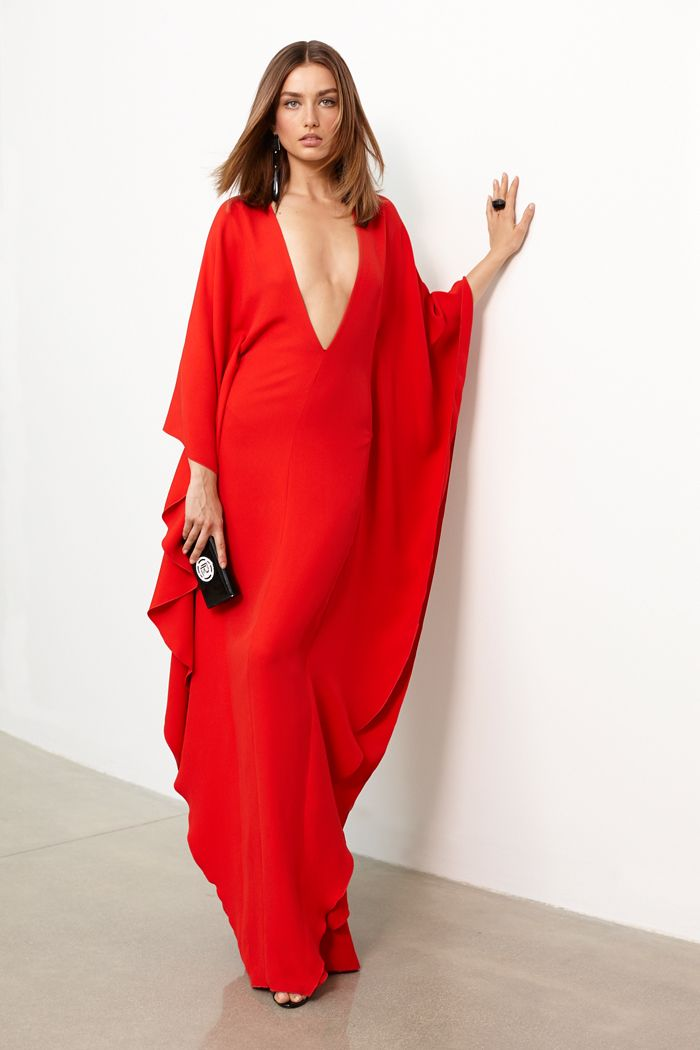 0b4e81f5a49 2016 Sexy V Neck Long Sleeves Back Slit A Line Kaftan Caftan Long Robe  Dubai Evening
