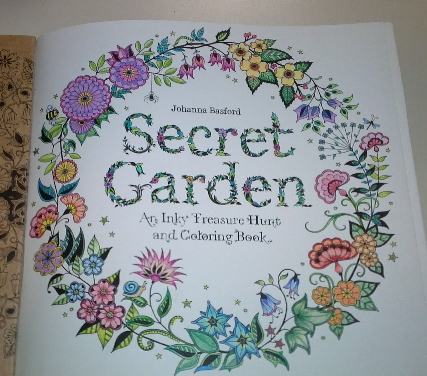 Secret Garden Johanna Bradford Adult Coloring Colored By Me