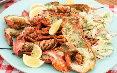 Grilled Lobster with Pernod-Caper Butter by Fine Living EMEA