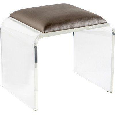 Remarkable Interlude Mira Acrylic Vanity Stool Products Acrylic Pabps2019 Chair Design Images Pabps2019Com