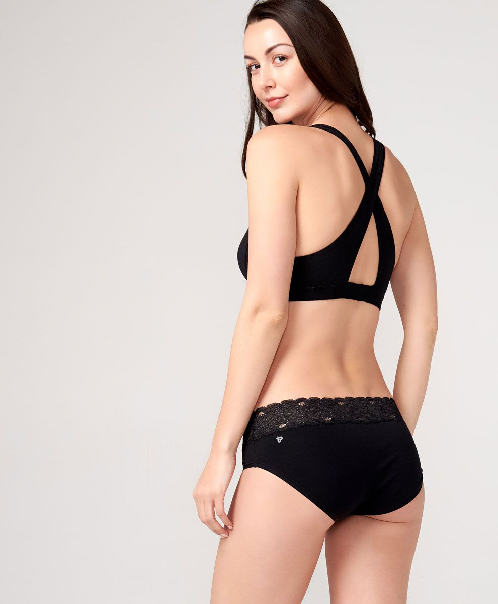 935b0c23c28 This organic cotton wireless crossover bralette is designed for comfy  everyday wear. Its crossover straps