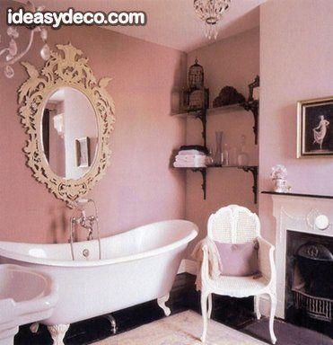 Decoracion En Rosa En Bano Vintage Bano Glamoroso Banos