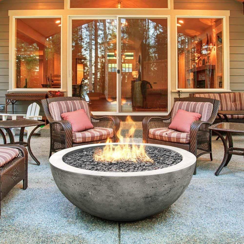 Moderno 4 Concrete Gas Fire Bowl 48 Backyard Fire Outdoor Fire Pit Designs Gas Fire Pits Outdoor