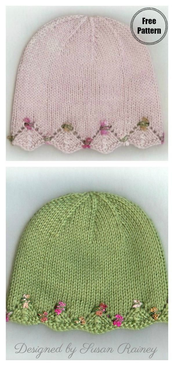Photo of One Day Baby Mütze Free Knitting Pattern- – knithat.decorhous …- –  – #Baby #…