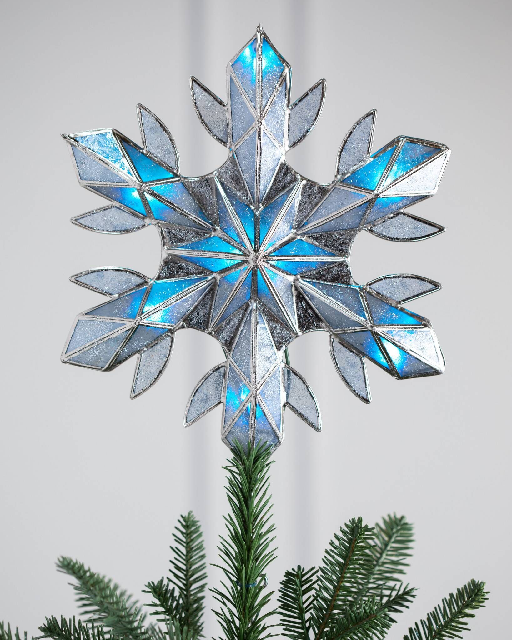 LARGE CHRISTMAS SILVER GLITTERY LOVE SIGN  TREE DECORATION XMAS SNOWFLAKE FLOWER