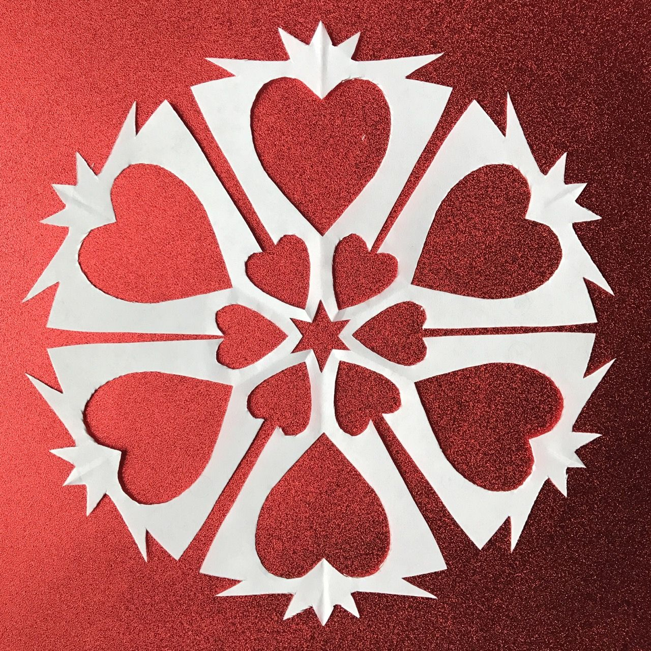 Queen Of Hearts Paper Snowflake Pattern Diy Printable Pattern To
