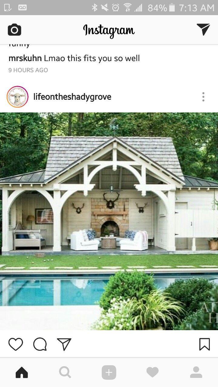 pin by emily hopkins on back porch poolhaus gartenhaus haus rh pinterest at