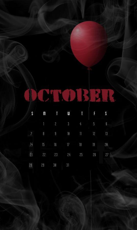 Amazing October 2018 iPhone Calendar October Calendar, Calendar 2018, October Wallpaper, Calendar Wallpaper