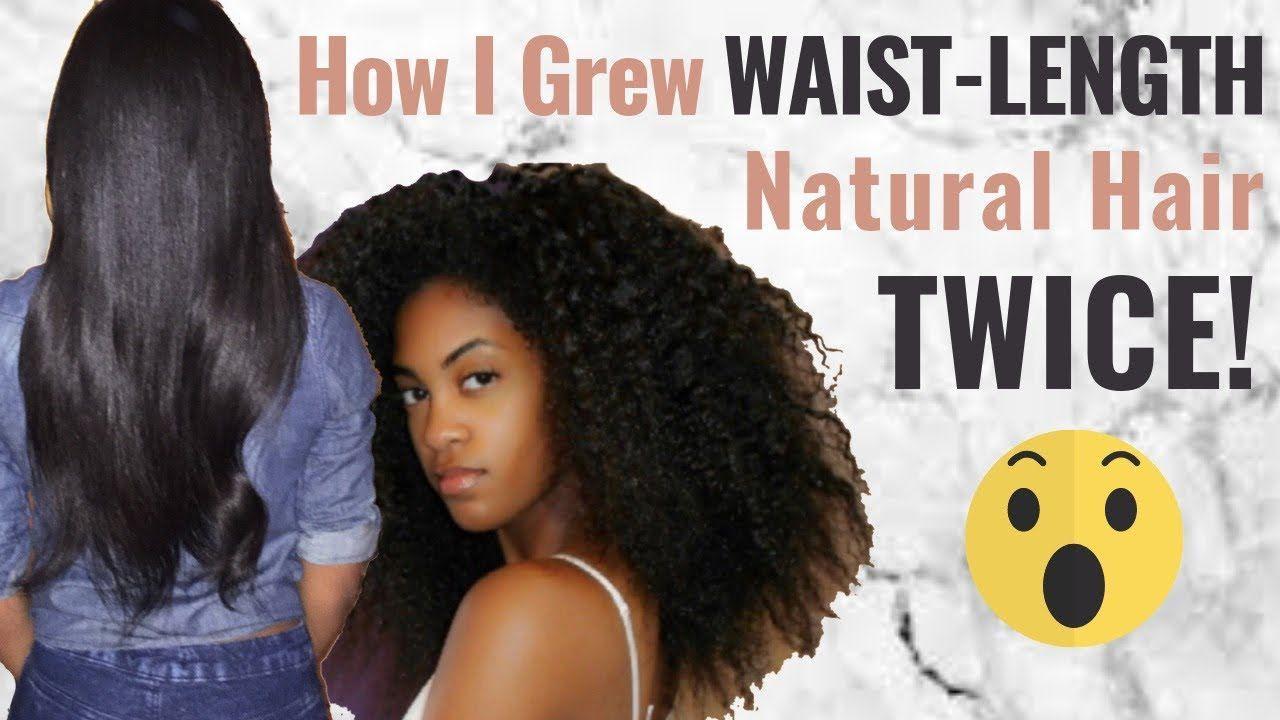 How I Grew Waist Length Natural Hair Twice As A Lazy Natural Hair Growth Journey Youtube Natur Natural Hair Styles Natural Hair Growth Hair Journey Growth