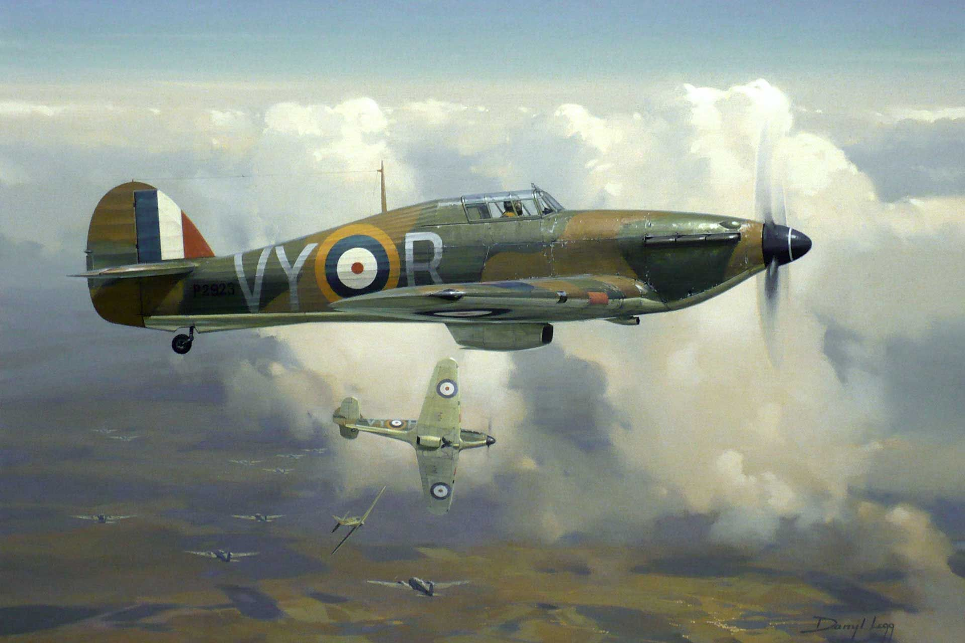 Image result for paintings raf hurricane
