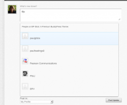 Add @mentions auto-complete to your BuddyPress site with the