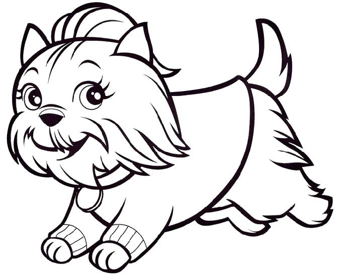 Polly Pocket Dog Are Cute And Adorable Coloring Page
