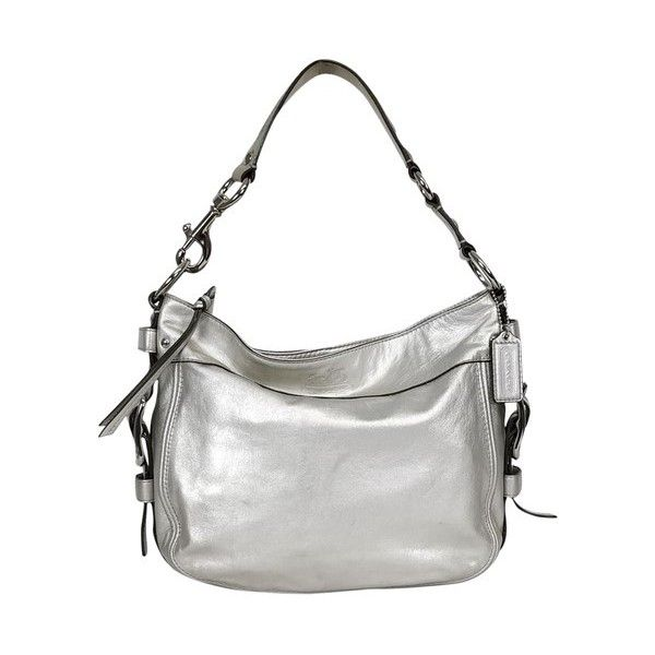 Pre Owned Coach Silver Hobo Handbag 60 Liked On Polyvore Featuring Bags Handbags Shoulder Bag