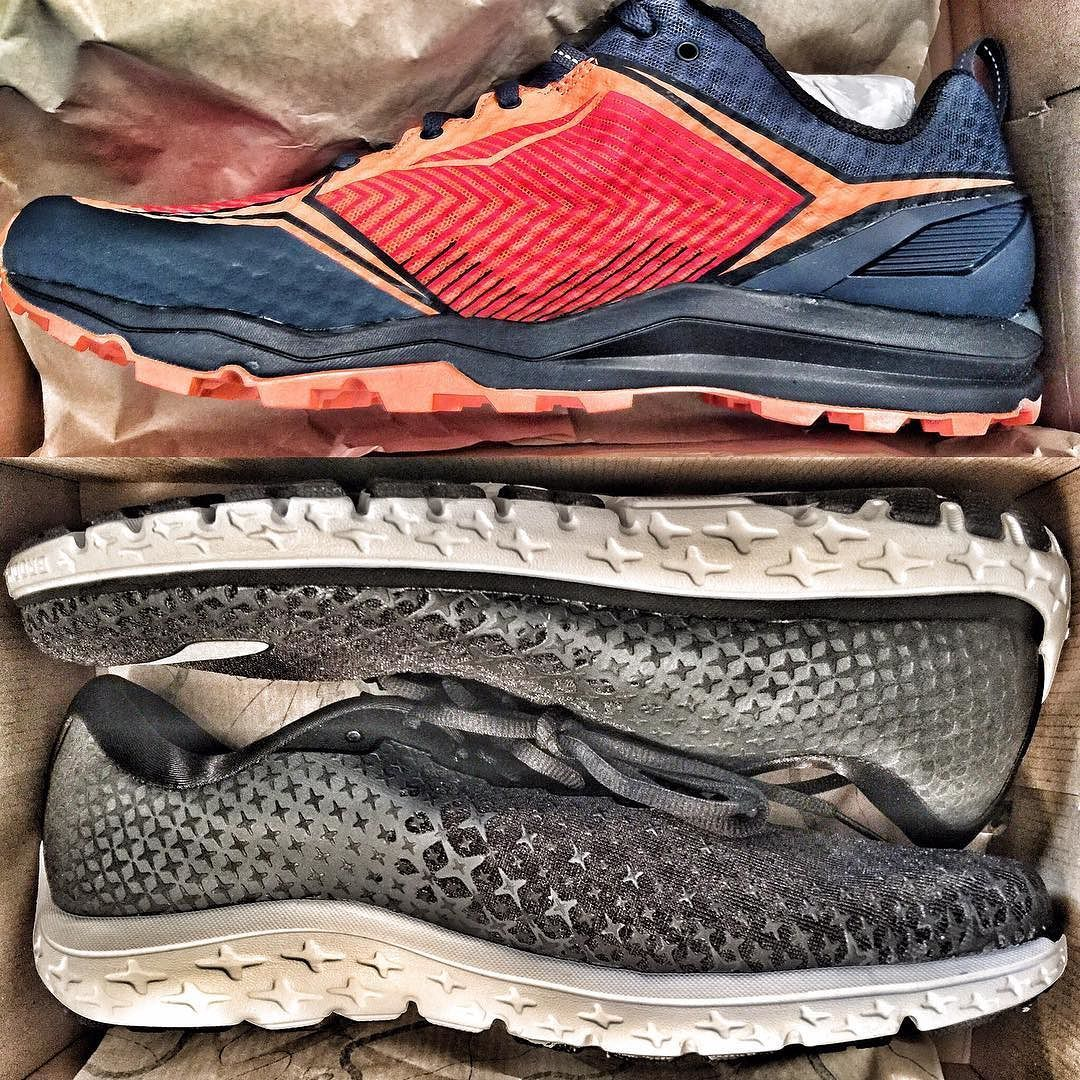 New road and trail running shoes arrived today. Merrell All