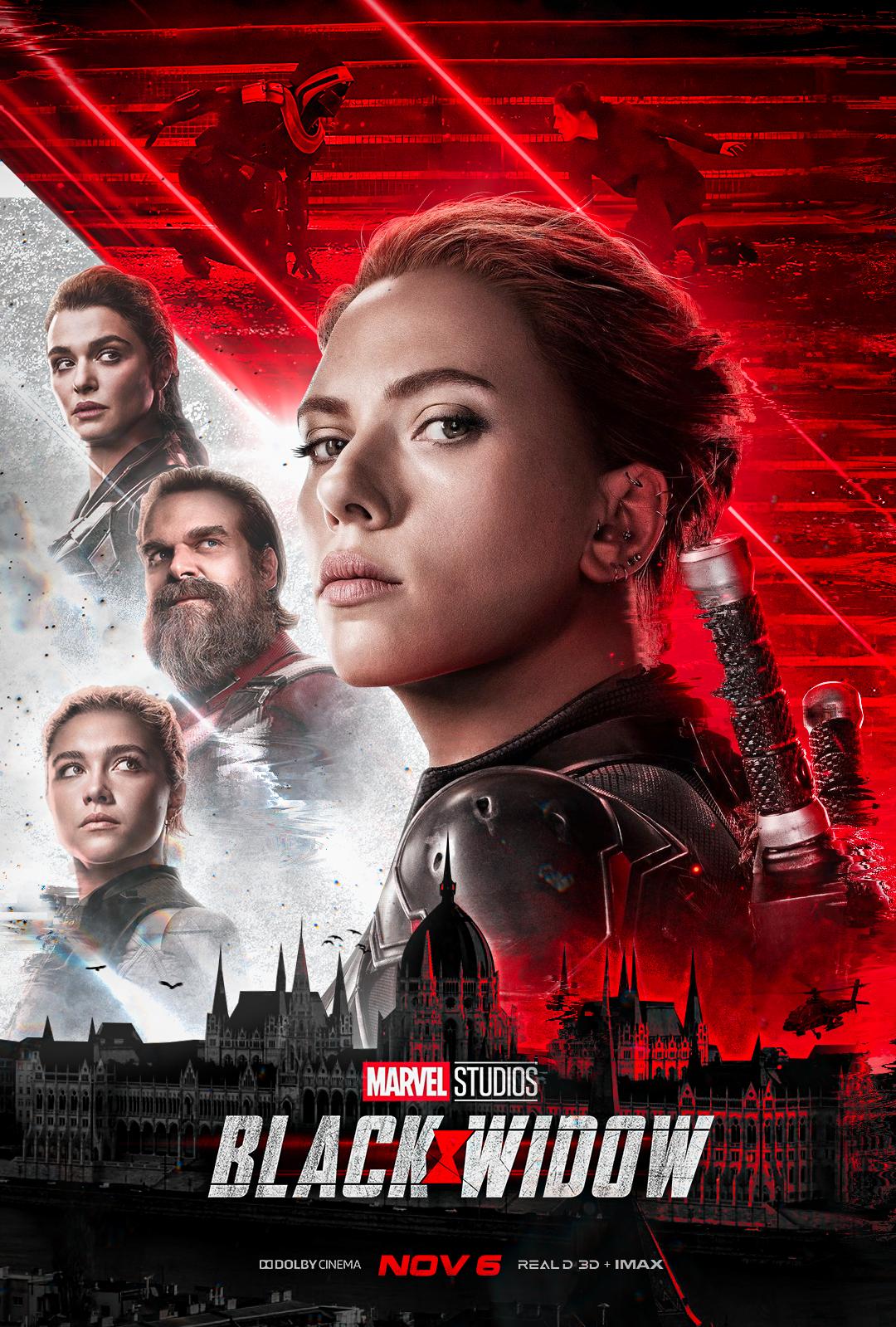 Black Widow Movie Poster by Mixo