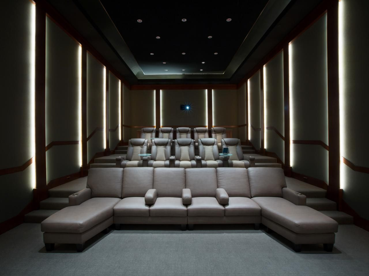 Home Theatre Decoration Ideas Part - 23: Home Theater Designs From CEDIA 2014 Finalists | Home Remodeling - Ideas  For Basements, Home