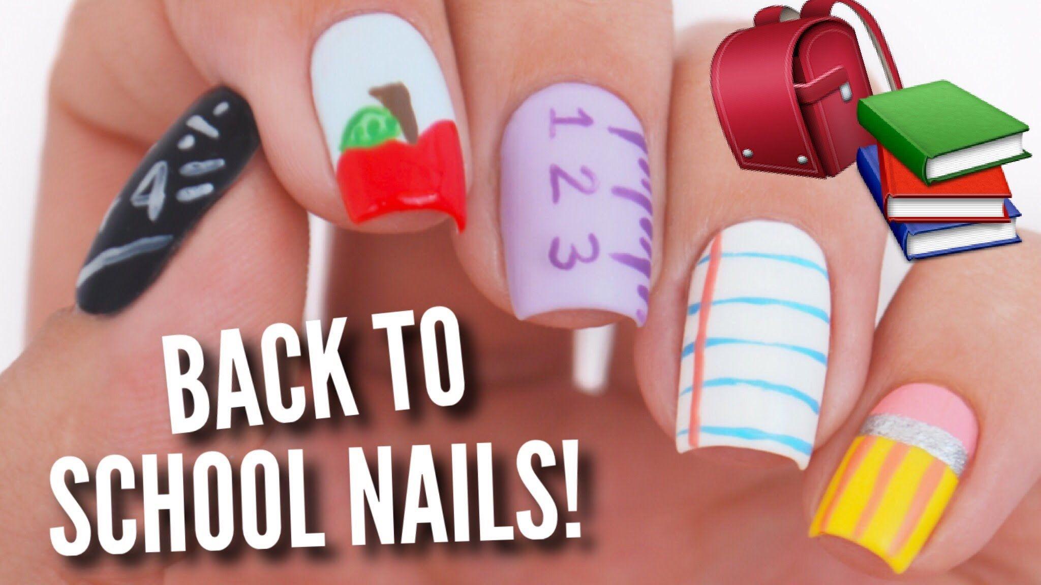5 Back To School Diy Easy Nail Art Designs You