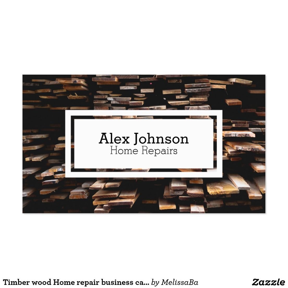 Timber wood Home repair business card | Timber wood, Business cards ...