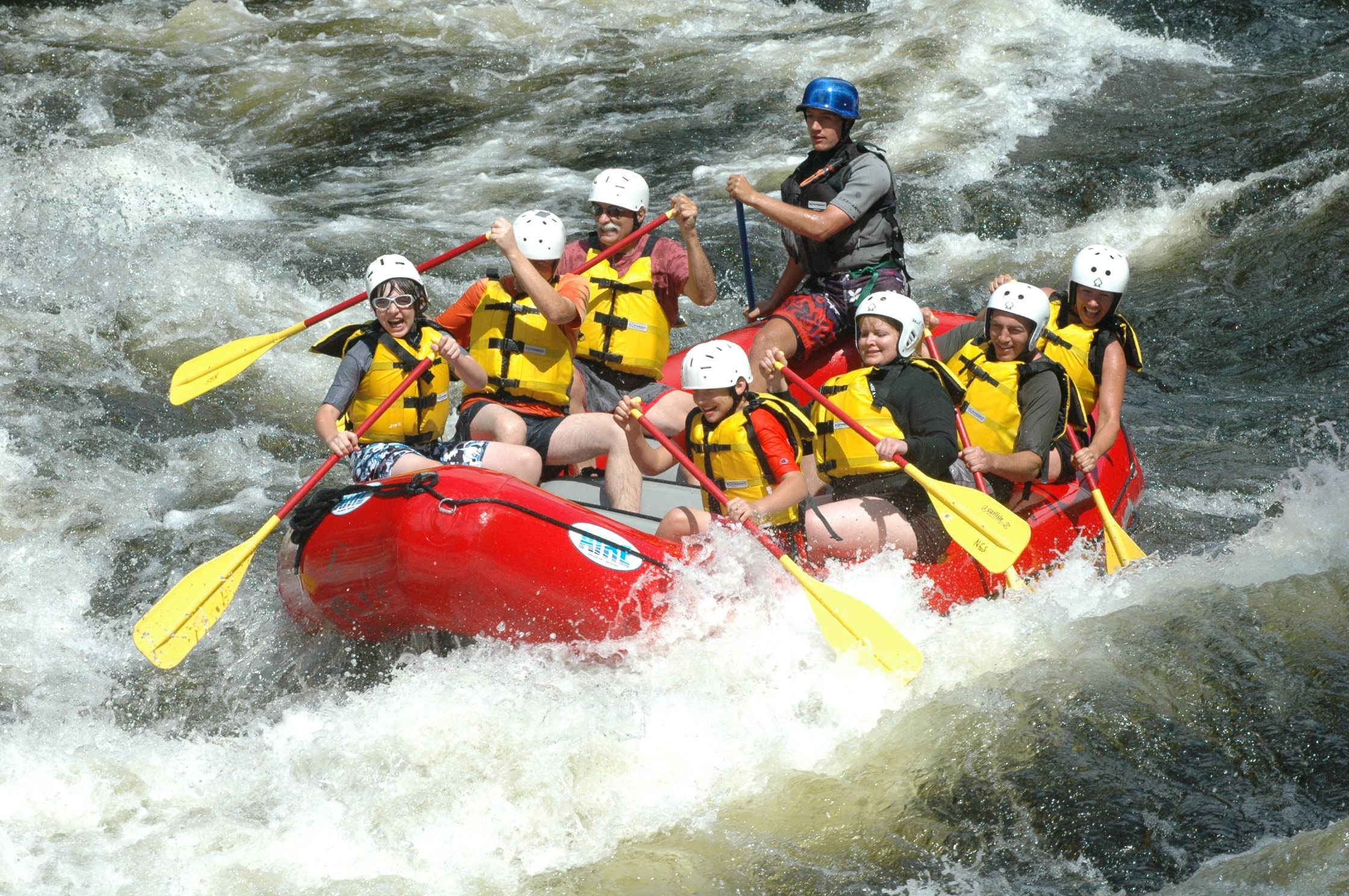Youth and family whitewater rafting trips available on 3