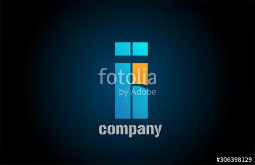 letter i alphabet icon logo shape for business company design