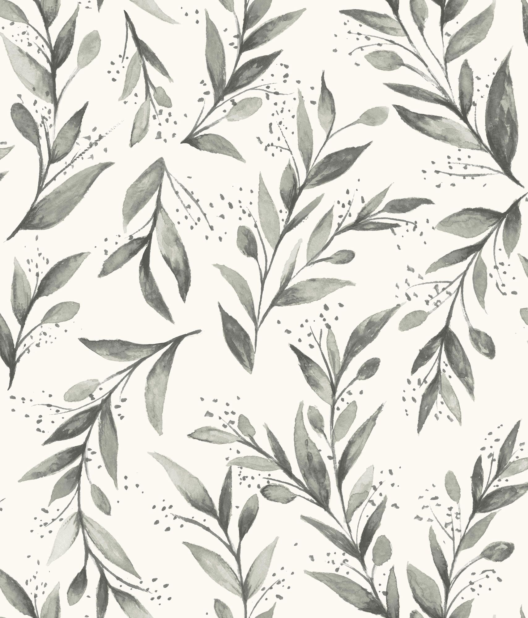 Magnolia Home Olive Branch Wallpaper Charcoal in 2020