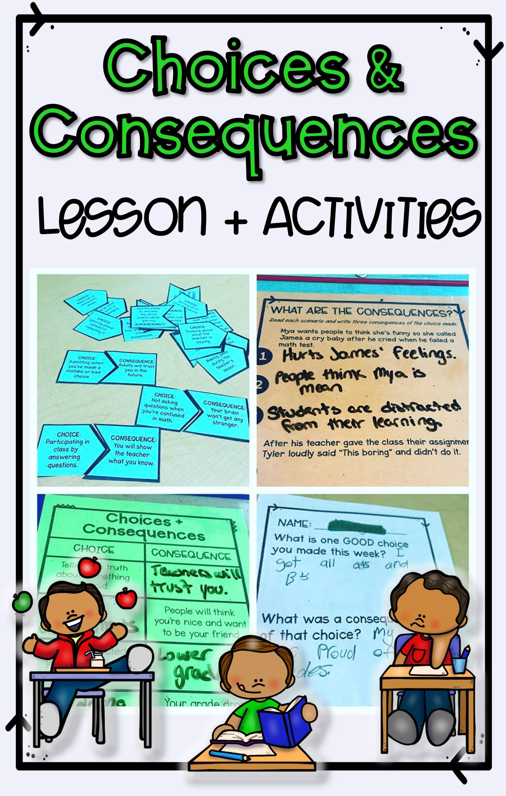 Choices And Consequences Lesson Plan And Activities