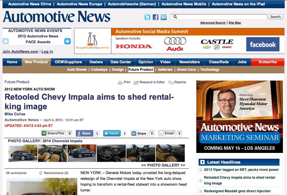 Autonews Com Automotive News Implemented On The Saxotech Online