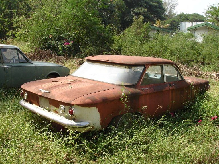 Abandoned In India 1961 Corvair Chevy Corvair Barn Finds Abandoned