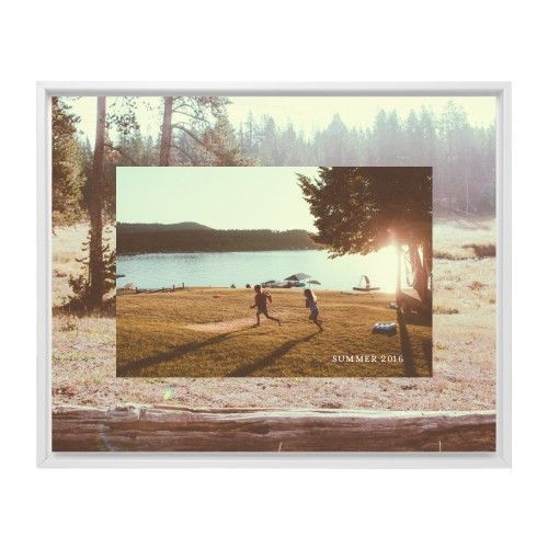 Mounted Wall Art: Picture in Picture Gallery of Two, Single piece, White, 8 x 10 inches