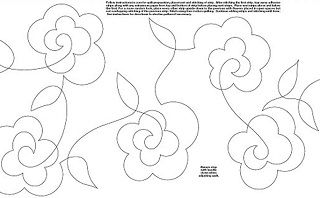 Continuous Single Line Quilting Flowers Machine Embroidery Designs