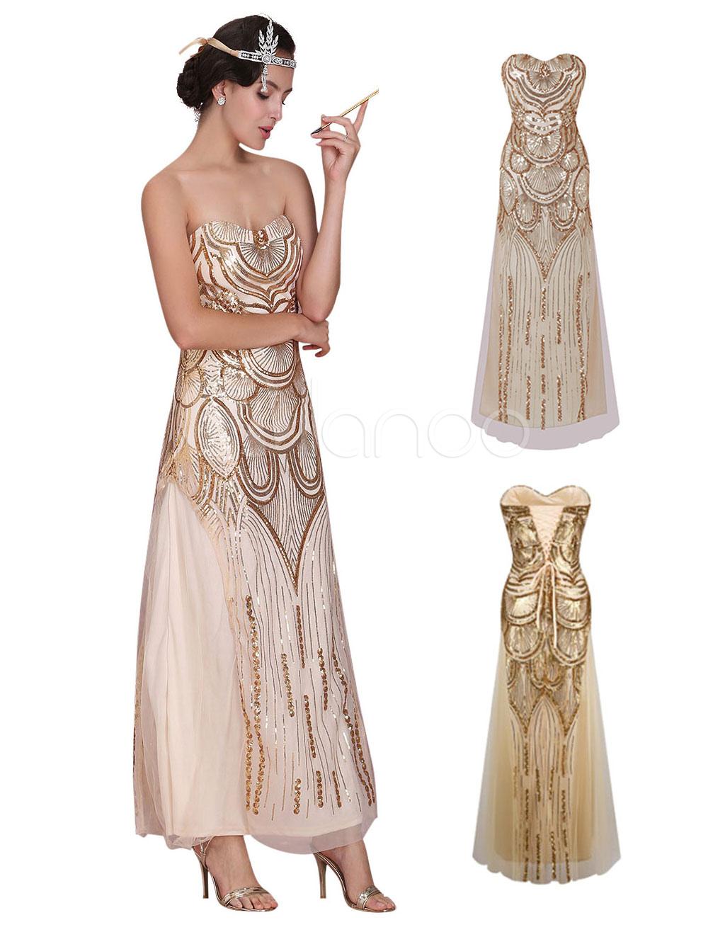 charleston kleid 20er jahre kleid vintage kleidin golden