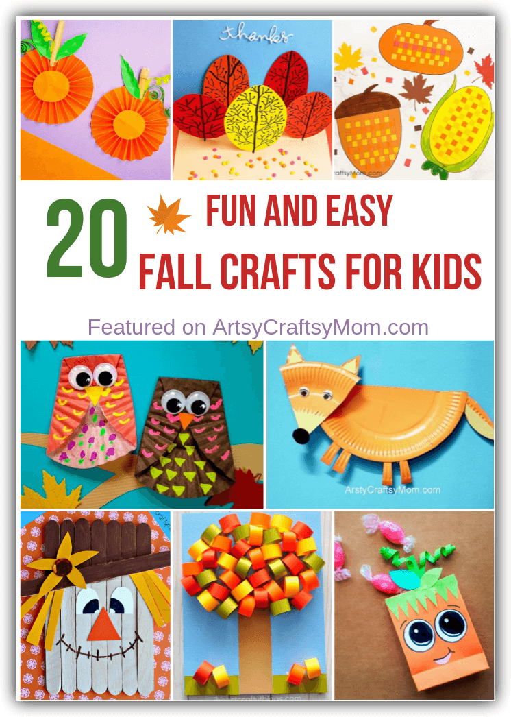 20 Fun and Easy Fall Crafts for Kids #autumncrafts